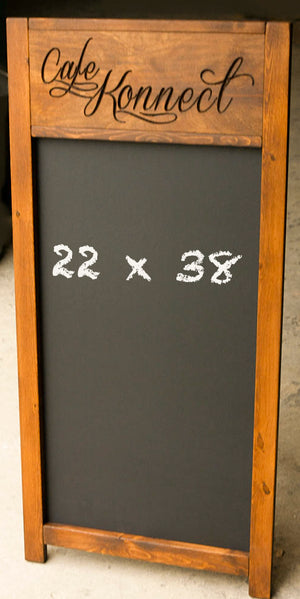 Custom Carved Cafe Chalkboard