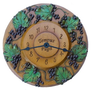 Custom Clock with Grape Accents