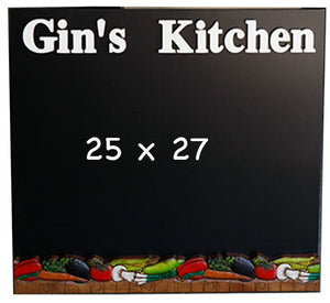 Custom Personalized Kitchen Chalkboard