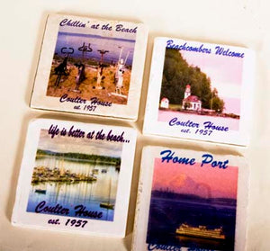 Custom Photo Stone Coasters DISCONTINUED DUE TO HIGH MARBLE COSTS