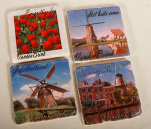 Custom Photo Stone Coasters- set of 4 DISCONTINUED DUE TO HIGH MARBLE COSTS