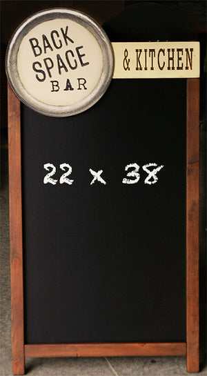 Custom Restaurant Logo Chalkboard Two Sided A Frame