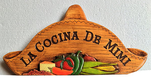 Custom Spanish Sombrero Sign