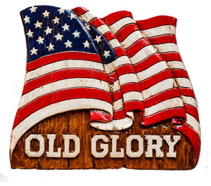 Decorative Plaque American Flag Old Glory  item 134