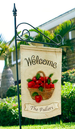 Decorative Apple Welcome Yard Sign