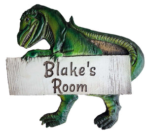 Dinosaur Kids Room Personalized Sign