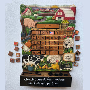 Farm Theme Perpetual Calendar personalized with your name