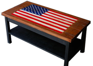Flag Decor Country Americana Coffee Table