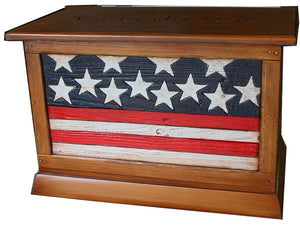 Flag Decor Wood Trunk