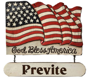Patriotic Flag Welcome Personalized Sign Flag  made in USA