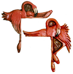 Flamingo Home Decor door hangers and shelf sitters- set of 2