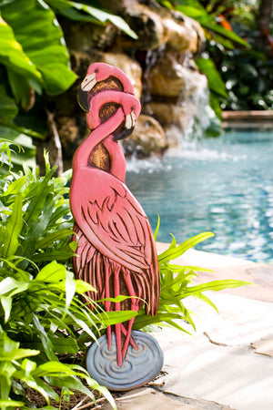 Flamingo Sign for your Tropical  Home or Garden