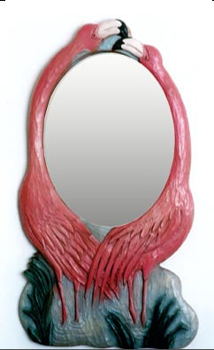 Flamingo wall mirror