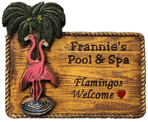 Flamingos Custom Name and Address sign