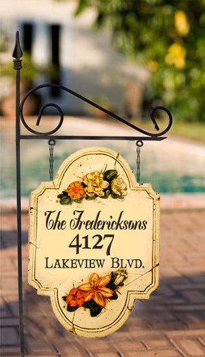Flower Hanging Yard Sign and Stake