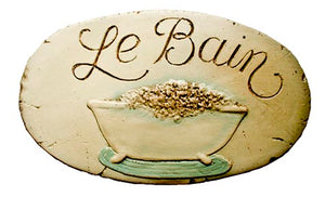 French Le Bain Sign