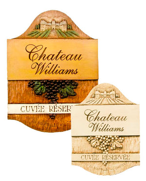 French Decor Personalized Chateau Sign