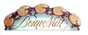 French wall plaque, Bonne Nuit