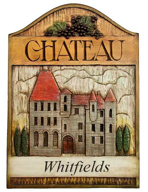 Personalized French Chateau Wall Plaque  item 595A