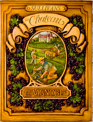 French Wine Plaque, Chateau sign personalized