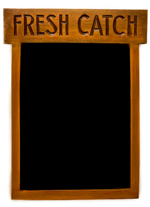 Fresh Catch Fish and Nautical Chalkboard Menu board