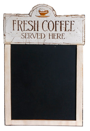 Fresh Coffee Menu board chalkboard