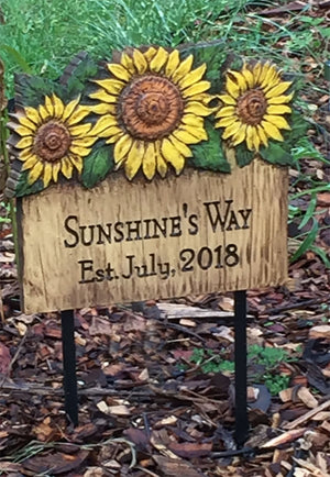Garden Decor Personalized Sign and Stake