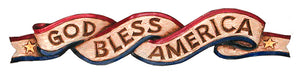 God Bless America Patriotic door topper item 120