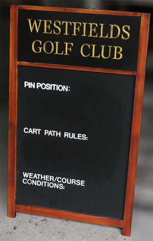 Golf Course Custom Chalkboard