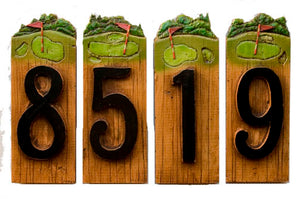 Golf Decor House Numbers item 970