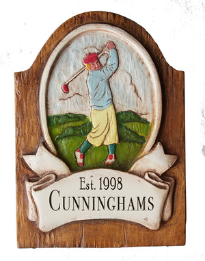 Golfer Personalized Sign