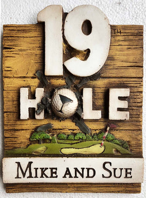 Golfers 19th Hole Personalized Sign   #154A