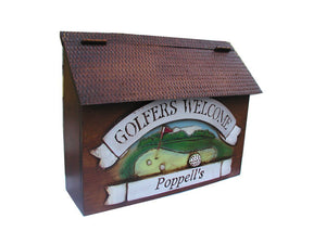 Golfers Welcome Mailbox-personalize
