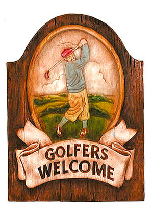 Golfers Welcome Plaque and Yard sign #150