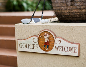 Golfers Welcome Sign door topper   #149