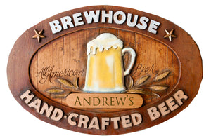 Home Bar Personalized Beer Bar Sign