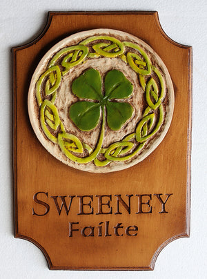 Irish Shamrock Personalized Sign