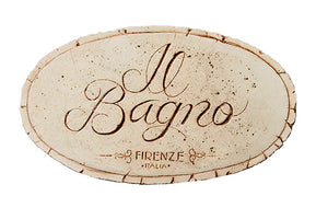 Italian Bathroom sign Il Bagno sign  item 694G