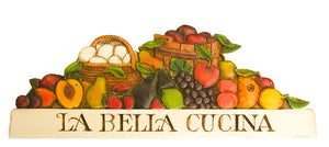 Italian Kitchen Decor, La Bella Cucina sign  item 696K