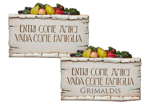 Italian Wall Plaque, Entri Come Amici Italian Sign item 667