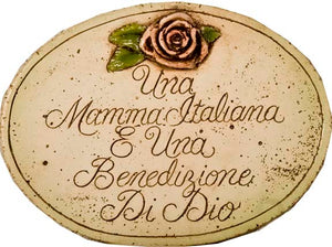 Italian wall plaque, Italian Mother is a blessing From heaven