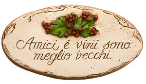Italian wall sign Amici e vini