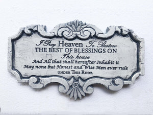 John Adams Prayer White House Plaque