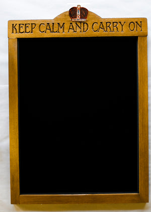 Keep Calm and Carry On Decor Chalkboard Sign  item 1414A