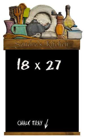 Kitchen Decor Chalkboard Personalized