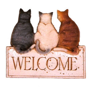Kitty Welcome  Cat wall decor