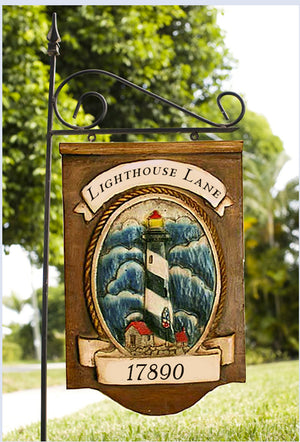 Lighthouse Custom Yard Sign and yard stake