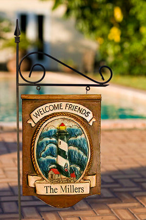 Lighthouse Decor Personalized Yard Sign