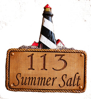 Lighthouse Personalized Address Sign