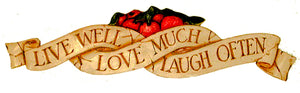 Live Love Laugh Wall Decor Sign with Country Apples